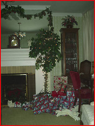 "Living Room - Gifts Under Our ""Flower Pot"" Tree"